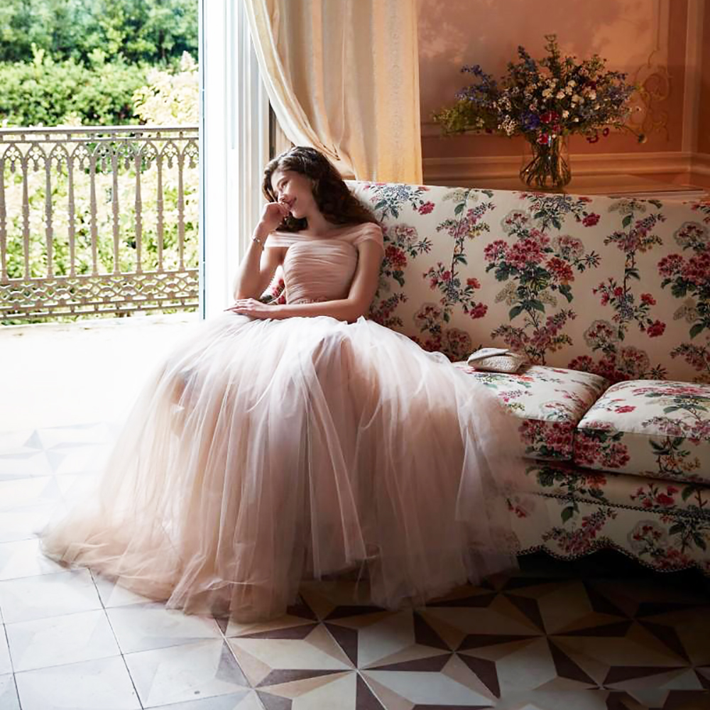 Peach Bride Dresses Boat-neck A-line Custom Made Elegant 2018 Vintage Pleats High Quality Party Dress