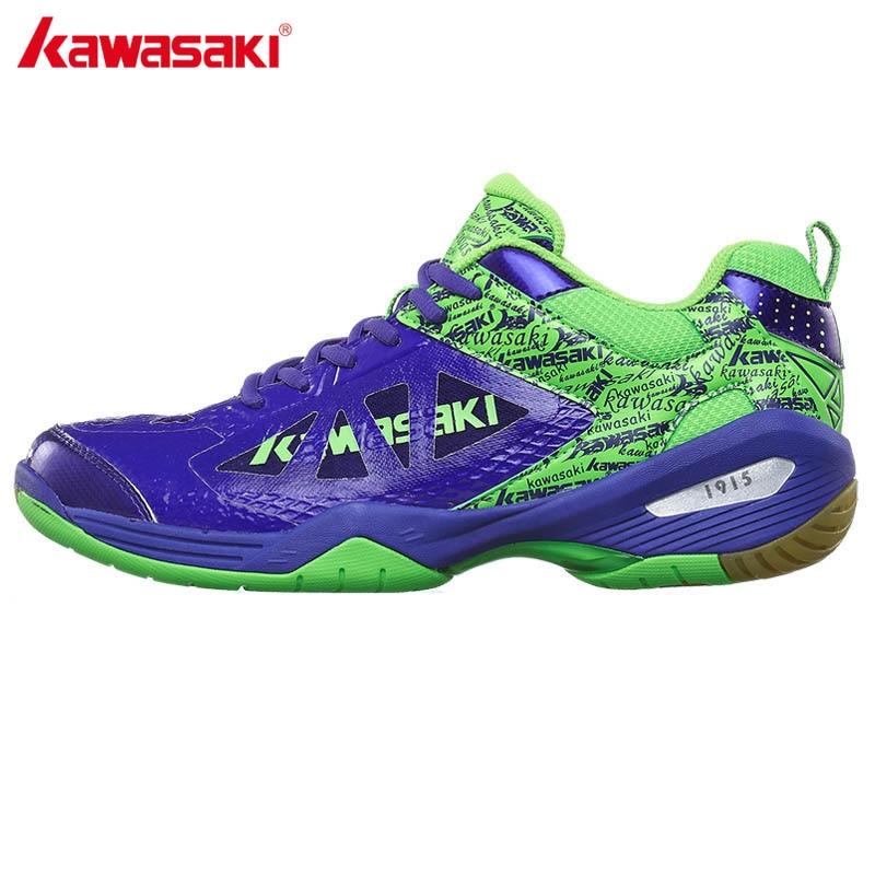 2017 Genuine Kawasaki Brand Badminton Shoes for Women Men Breathable Mesh Sneakers Men's Sport Shoe K-338 professional brand kawasaki badminton shoes 2017 sport sneakers for men women anti slippery pvc floor sports shoe k 065 k 066