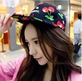 Summer 2016 new female hip-hop flat hat fruit pattern women sweet cherry baseball hat cap