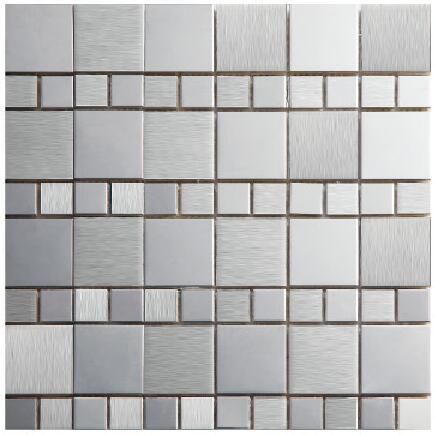 In acciaio inox piazza metallo mosaico cucina backsplash piastrelle ...