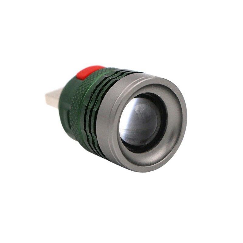 Aluminum Alloy Power bank Flashlight Mini Portable USB Rechargeable 3-Mode LED Light Laptop Reading Lamp Pocket Mini Torch
