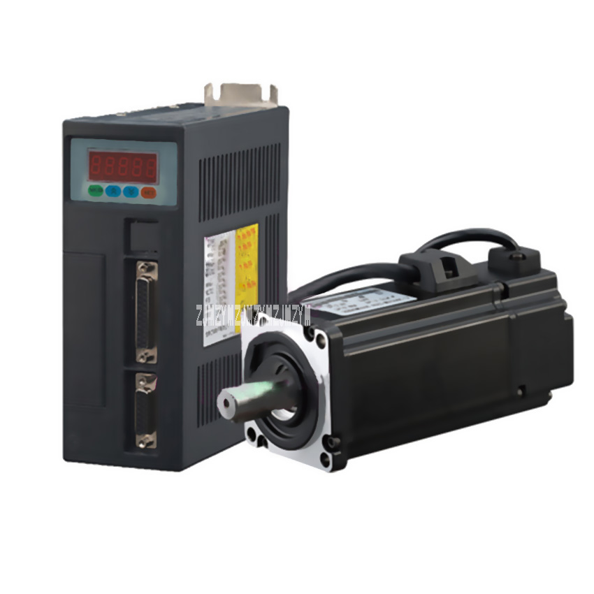 400W AC Servo Motor 1.27N.M 3000RPM 60ST-M01330 14mm 220V AC Motor+Servo Motor Driver+3M Cable Complete Motor kits High Quality
