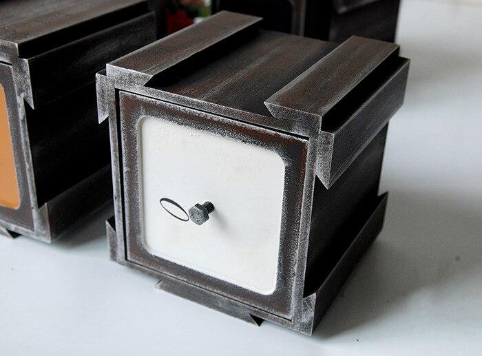 Vintage boîte en bois bijoux stockage coffre au trésor boîte à tiroir organisateur manuel boîte en bois bureau articles divers boîte de rangement tiroir - 6