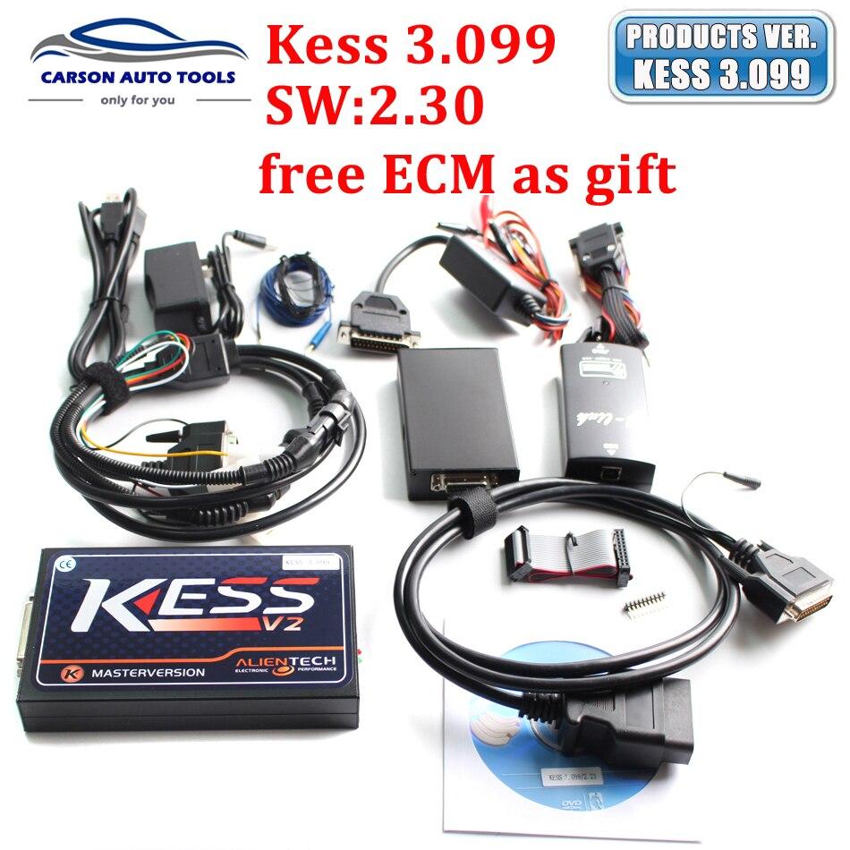 Цена за V3.099 МАСТЕР KESS V2 OBD2 Менеджер Тюнинг Комплект включает ECM titanium программное обеспечение v2.30 kess v2 нет ограничения маркеров с бесплатным ECM