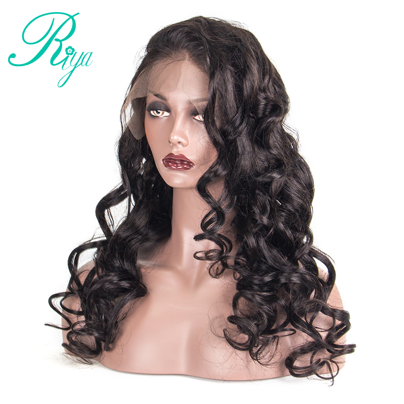 Riya Hair Lace Front Human Hair Wigs Loose Wave 150% Density 360 Lace Frontal Wig Pre-Plucked Hairline Brazilian Lace Wigs
