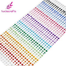 Lucia crafts 3/4/5 мм, Фурнитура для бижутерии, самоклеющиеся красочный камень наклейки со стразами Скрапбукинг 1 лист C0801
