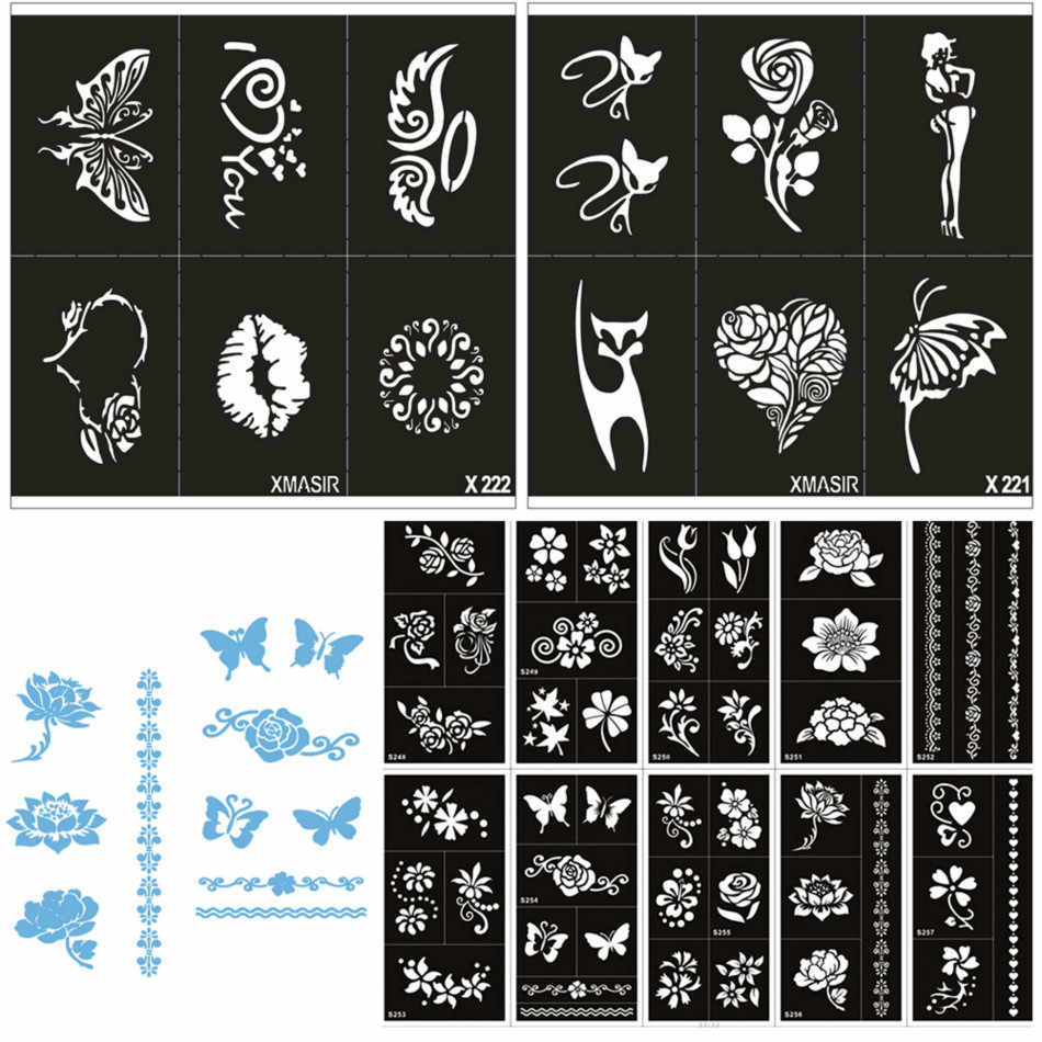 Detail feedback questions about 22pcs set body paint stencils for painting festival art women airbrush template reusable stencil self adhesive tattoo