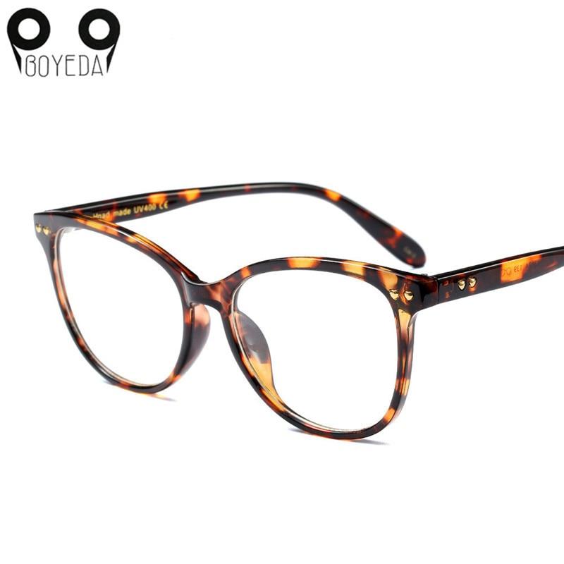 BOYEDA New Women Cat Eye Glasses Fashion Spectacle Frame Brand Female Vintage Computer Eyeglasses Retro Optical Eyewear 2