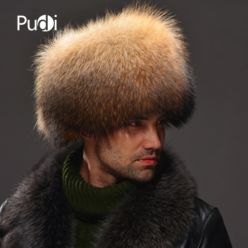 HM030 Real genuine racoon dog hat winter Russian men's warm caps whole piece racoon dog fur hats hm039 real genuine mink hat winter russian men s warm caps whole piece mink fur hats