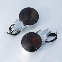 Chrome Pair ABS Front Flat Turn Signal Lights For Harley Touring Road King Glide 2001-2017 Heritage Softail Classic FLSTC 99-17 drag specialities 2001 0278 chrome fat spotlights pair