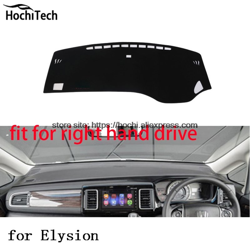 For honda elysion right hand drive dashboard mat Protective pad black color car-styling Interior Refit Sticker Mat products for toyota prius 2012 2013 right hand drive dashboard mat protective pad black car styling interior refit sticker mat products