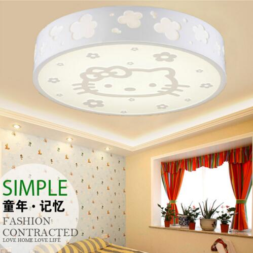 AC V W Dimmable Ceiling Lights Hello Kitty Design LED - Hello kitty lamps for bedroom