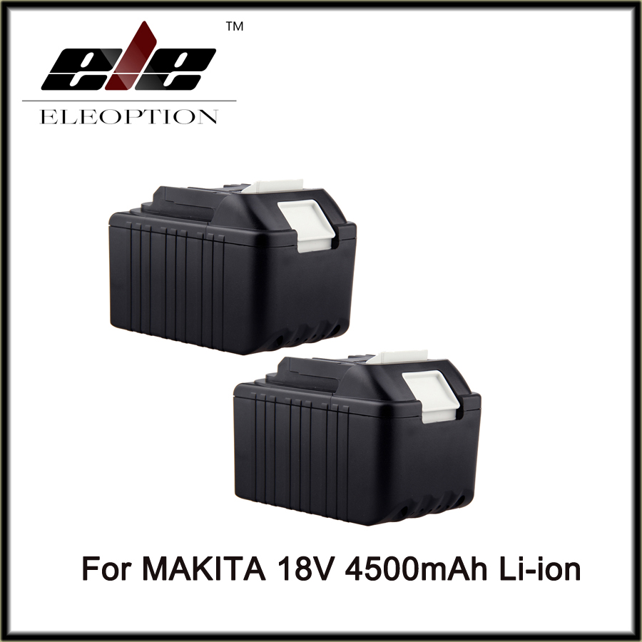 2pcs 4.5Ah 4500mAh 18V Li-Ion High Power Rechargeable battery for Makita BL1830 BL1840 BDF453SHE 194205-3 LXT400 Battery bl1840 electric drill battery 18v 4000mah for makita 194205 3 194309 1 bl1845 bl1830 bl1445 bl1460 18v 4 0ah li ion battery