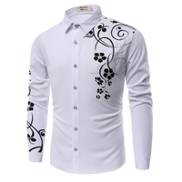 Brand New Mens Dress Shirts Casual Shirts Type Slim Long Sleeve Dressed Shirts Camisa Masculina Casual Shirts Size:M-XXXL