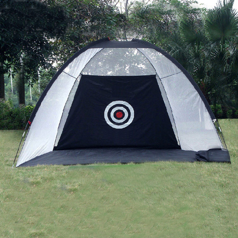 Купить с кэшбэком Indoor Outdoor 2m*1.4m*1m Golf Practice Net Golf Hitting Cage Garden Grassland Practice Tent Golf Training Equipment