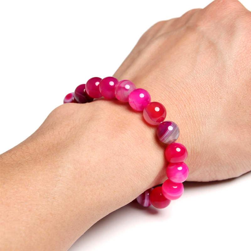 NAPOLN 10 мм фиолетовый камень браслет женский браслет из натурального камня pulseras для женщин натуральный камень браслет Мужчины дропшиппинг