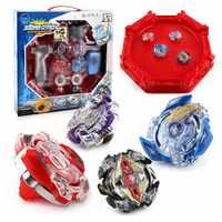 Tops giratorios estadio ráfaga Arena Bayblade Metal Funsion 4D cuchillas juguetes con lanzador y Asa con caja # E