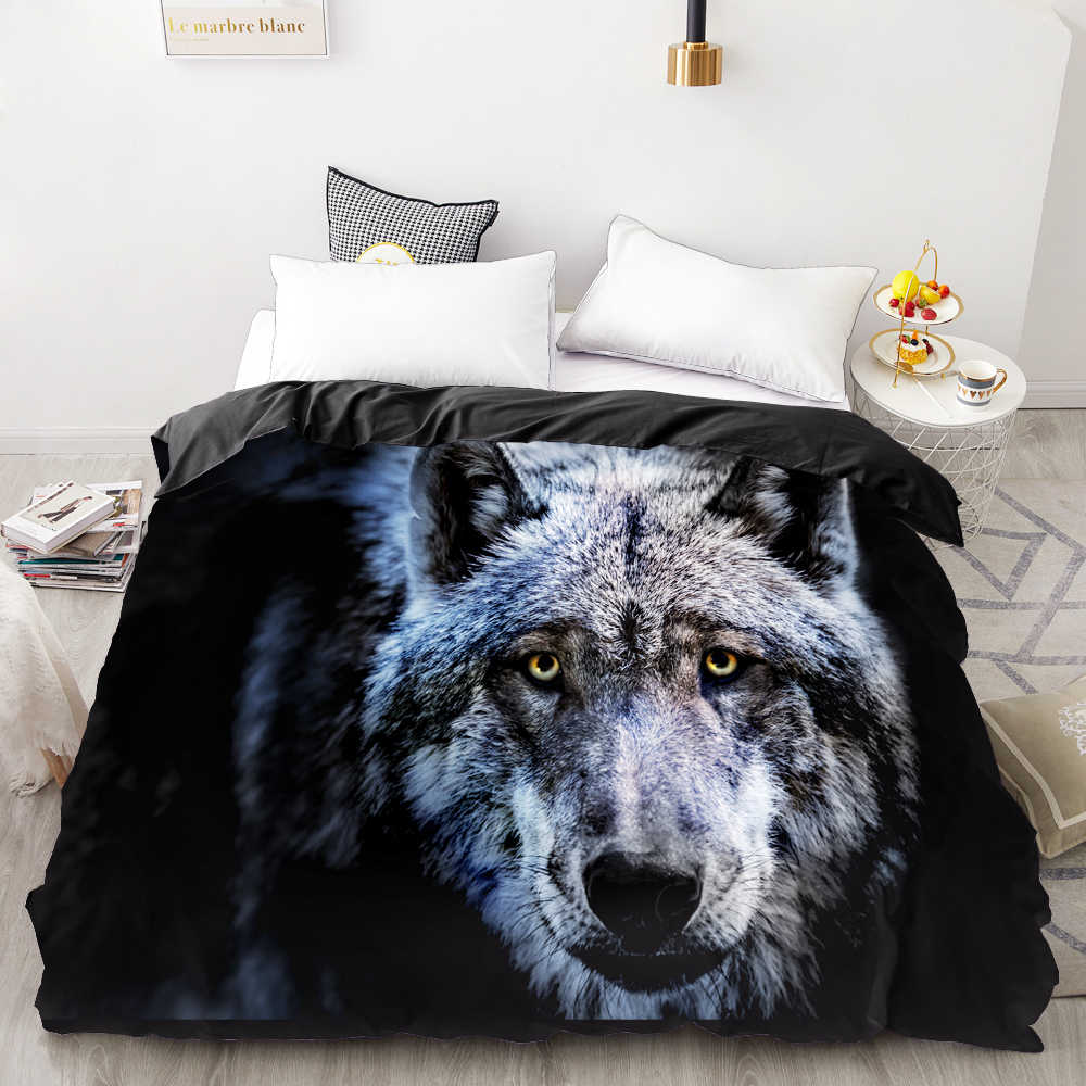 3D Print Duvet Cover Custom Design,Comforter/Quilt/Blanket case Queen/King,Bedding 200x200/220x240,Bedclothes Animal wolf