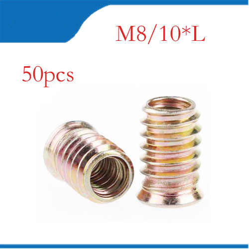 Metal Pasador Métrico M-6 M-8 M-10 para Madera o Pies de Muebles