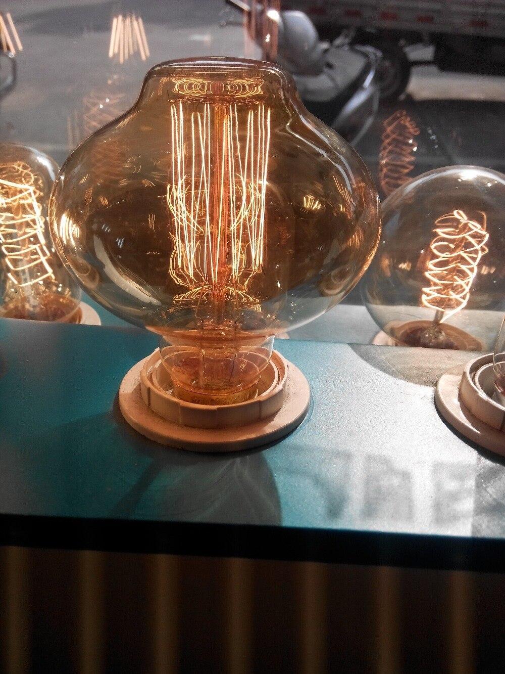 Vinage Loft Industrial Edison Bulb Antique Style Halogen Filament Decoration E27 Light Bulb Cafe Bar Coffee Shop Restaurant