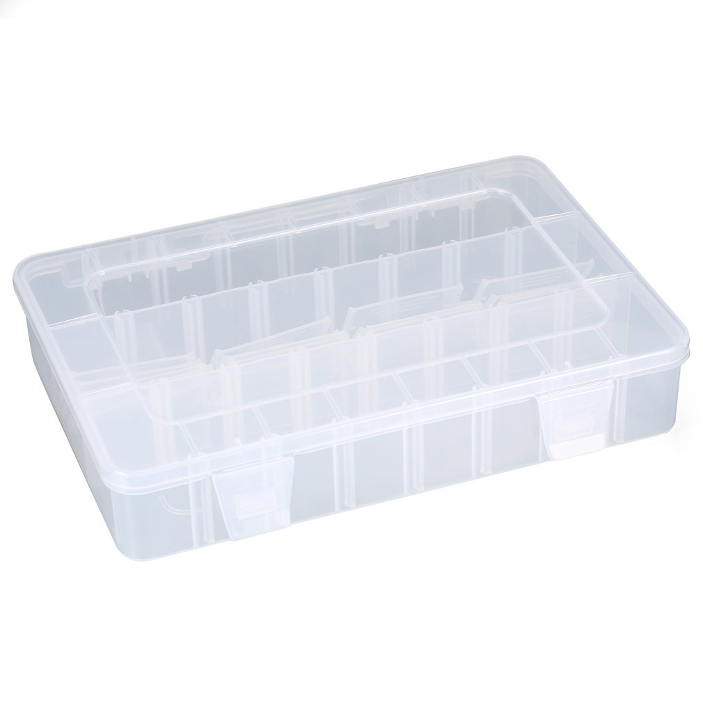 24 Grids DIY Tools Packaging Box Portable Electronic Components Chips Screw Removable Storage Screw Jewelry Tool Case