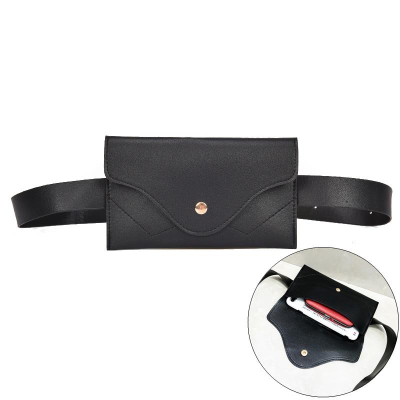 2019 Hot New Fanny Pack Women Belt Bag Leather Waist Bag Fashion Pure Color Ring PU Messenger Shoulder Chest Pochete Homem