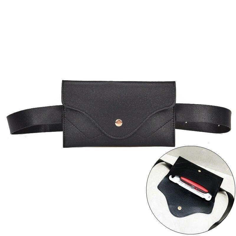 Fashion Women Waist Bag PU Leather Belt Bag Pack Chest Handbag For Women Female Girl Travel Vintage Waist Pouch Fanny Pack