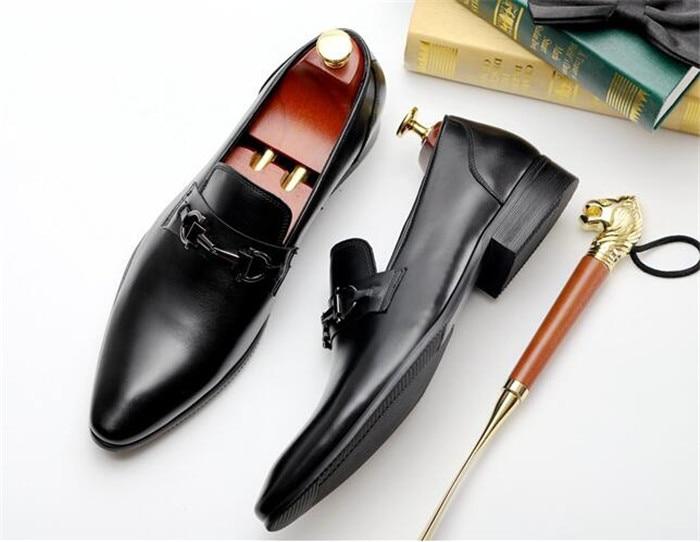 Nueva Boda Hebilla Inglaterra Cuero chocolate Otoño Vestir Invierno Negro Zapatos Hombres De Moda Los Negocio ZqCZSrw