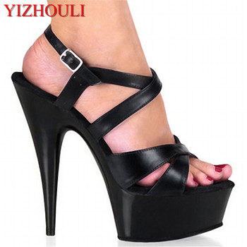 15cm high hollow out sandals Noble joker slipper marriage models show stage show the shoes
