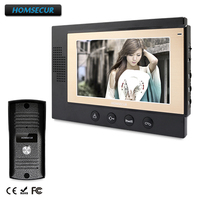 HOMSECUR 7 Hands free Video Door Entry Phone Call System+Metal Case Camera TC031+TM701 B