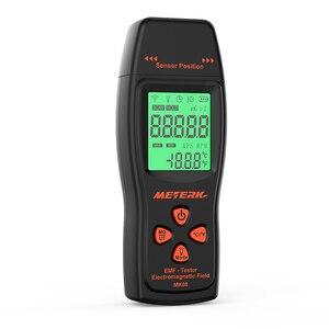 Image 2 - EMF מד כף יד מיני דיגיטלי LCD EMF גלאי קרינת שדה האלקטרומגנטי Tester Dosimeter בודק דלפק