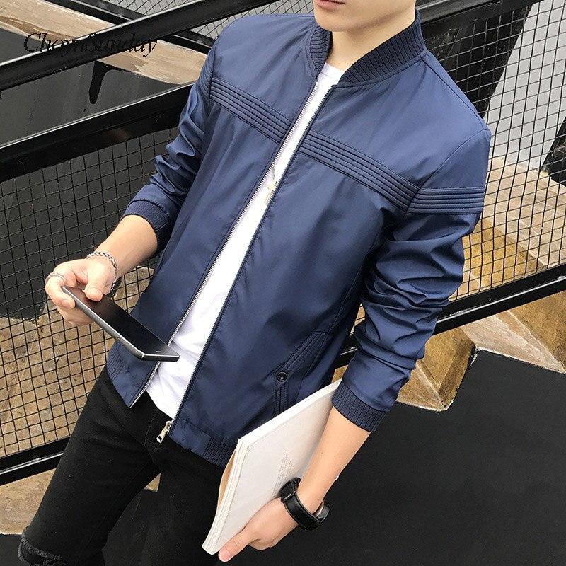 2017 Choynsunday Hohe Qualität Mann Der Marke Jacke Mode Dünne Teens Schwarz Grau Blau Männlichen Jacke Plus Größe 4xl Heißer Verkauf Weihnachten Rheuma Und ErkäLtung Lindern