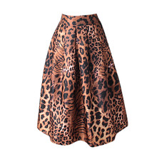 Skirts womens skirts womens plus size summer skirts womens skirts womens with design Coffee Brown Polyester Bow Long Mar cheap CHAMSGEND Ball Gown NONE empire Leopard Casual Knee-Length skirts womens woolen pleated skirt set girl mini skirt plus size