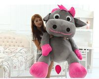 huge 130cm creative cartoon gray cow plush toy dairy cow soft hugging pillow,surprised birthday gift h2986