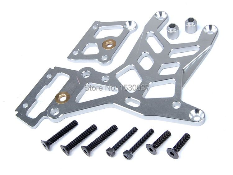 1 5 rc car racing parts CNC Alloy Upset after connecting front upper plate set fit