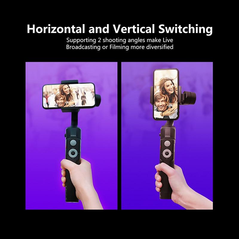 (В наличии в России) Moza Mini S складной 3 осевому гидростабилизатору Vlog стабилизатор для iPhone X 8p huawei P30 Pro GoPro 7/6/5 - 4