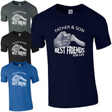 Father & Son Best Friends For Life T-Shirt - Fist Punch Fathers Day Dad Mens Top freeshipping best day of someone else s life