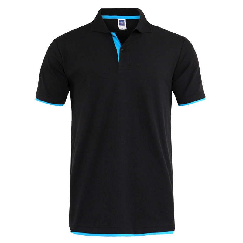 Mens Polo Shirt Brands Clothing short Sleeve Summer Shirt Man Black Cotton Polo Shirt Men Plus Size Polo Shirts 78