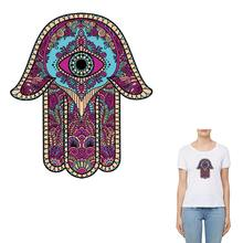 COSBILL Colorful Mandala Eyes Patches Washable Women Clothes Sticker Iron-On  Transfer Decoration Accessory Applique Y-066 85c212ca3f94