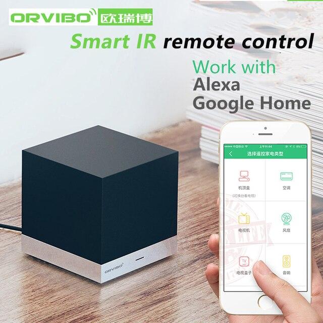Alexa y Google control de voz Orvibo MagicCube XiaoFang WiFi control remoto IR Automatización de casa inteligente por iOS Android