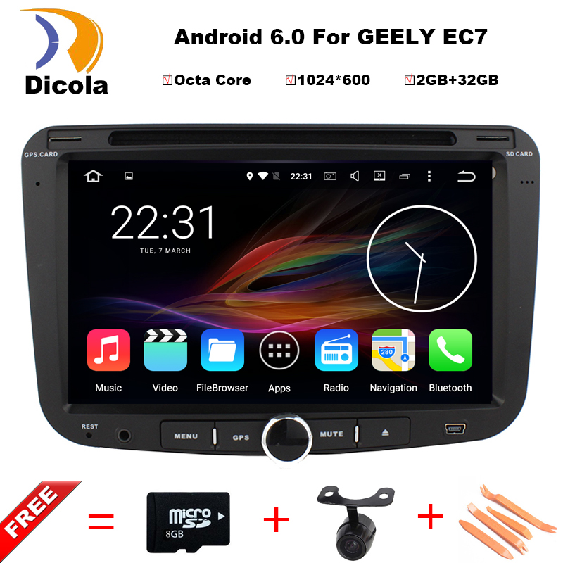 2G RAM 32G ROM Android 6 0 Octa Core font b Car b font DVD Multimedia