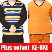 2017 New Men S Long Johns Winter Cotton Thermal Underwear Set 2 Pieces Stripe Shirt Pants
