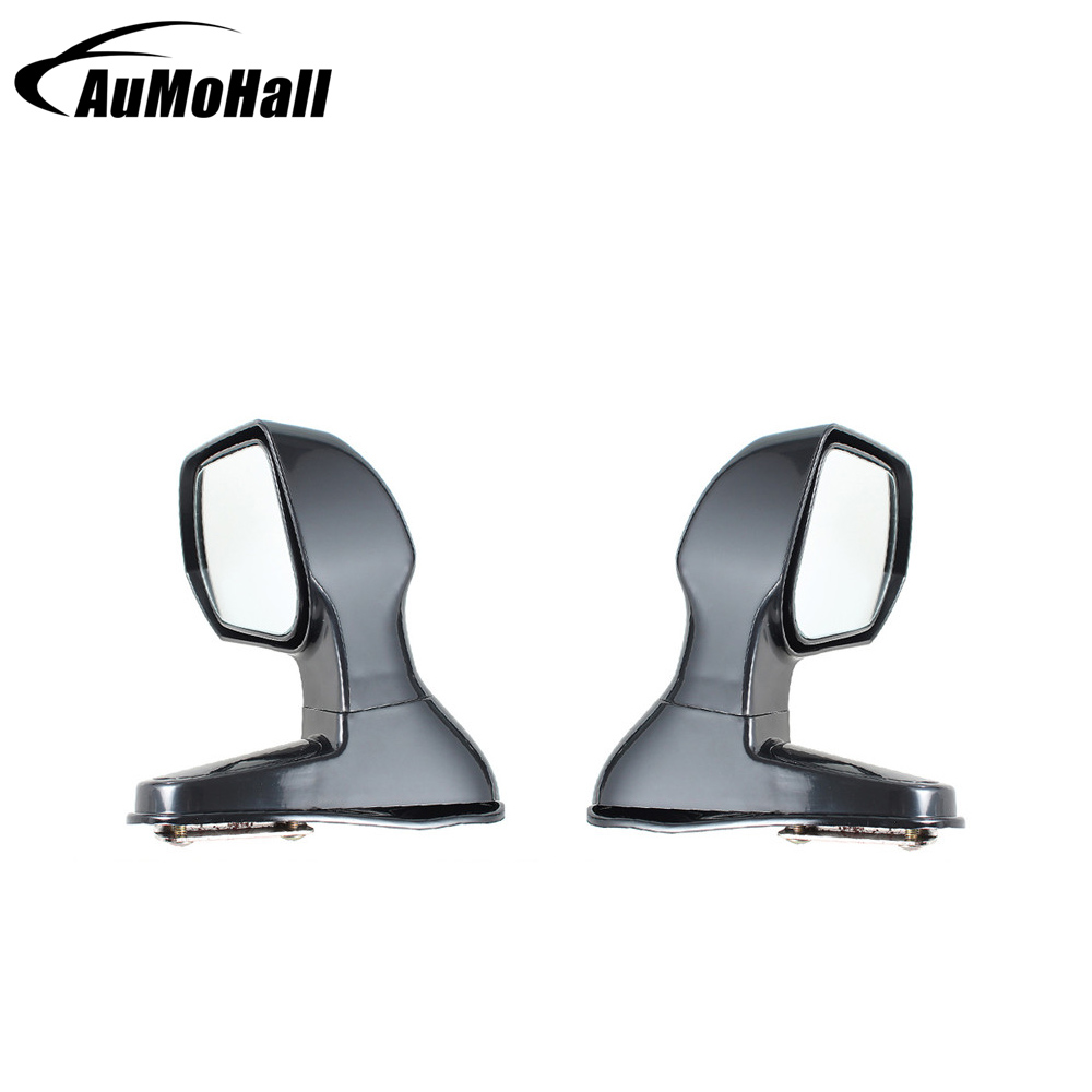2 Pcs Universal Car Blind Spot Square Side View Flat Mirror Black Color Wide Angle Rear Mirrors Side Rear View Mirrors motorcycle indicator rear view side mirrors