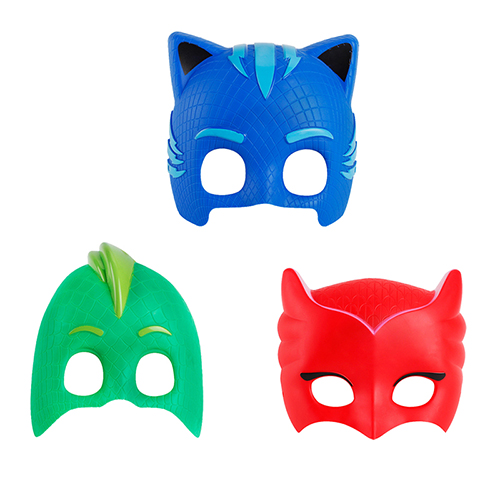 In Stock Pj Cartoon masked man Masks ABS Cool Cosplay Mask Gift Toy for Halloween Birthday Party Get-together Festival 3pcs/lot pj cartoon pj masks command center car parking toy lot car characters catboy owlette gekko masked figure toys kids party gift