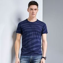 NEW Collection T-Shirt 2019 Brand New Fashion Trend Causal Streetwear Printed Striped O-Neck Cotton Pullover Summer