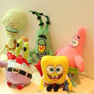 Image 2 - 6 Styles Cartoon Plush SpongeBob Patrick Star Squidward Tentacles Eugene Sheldon Gary Dolls Stuffed Toys Kids Girls Gifts
