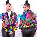 Горячие модные элегантный стиль 2016 женщины пальто полный рукавом печати куртки новинка сексуальное вскользь куртки K8202
