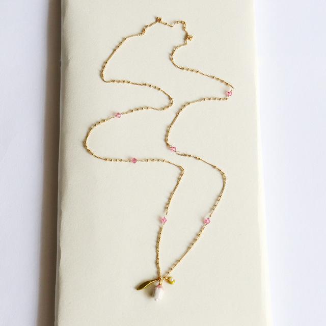 Simples elegante romântico flor para mulheres de luxo partido colares