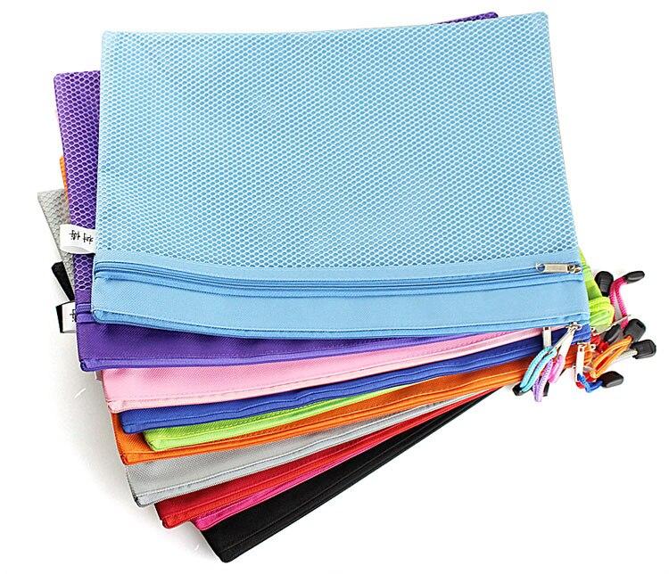 A4 A5 Fabrics File Bag, Office Zipper Documents Pouches.