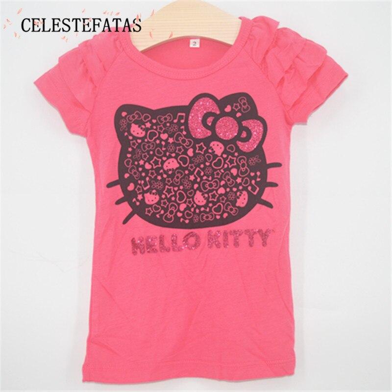 girl t shirt T-shirt for girls tshirt girl costume tops kids cotton clothing children summer clothes 1PCS/LOT DXJP-003-1P